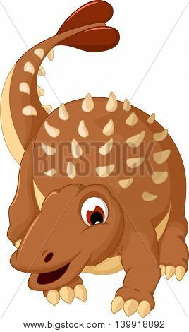 funny Ankylosaurus Dinosaur cartoon for you design