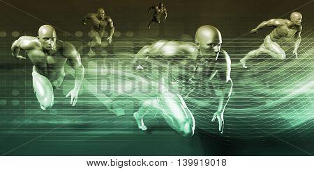 Medical Science and Scientific Studies Concept Art 3D Illustration Render