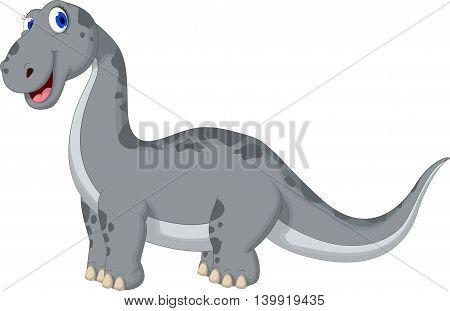cute dinosaur cartoon posing looking at camera