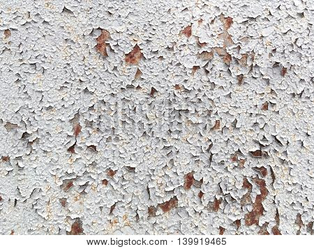 Old Wall With Peeling Paint Crack Texture Surface