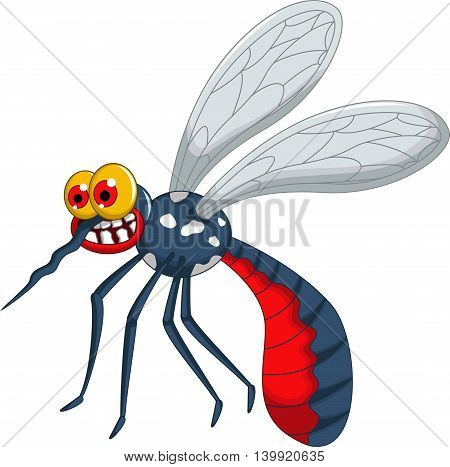 angry mosquito cartoon walking for you design