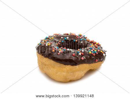 donut glaze chocolate on a white background