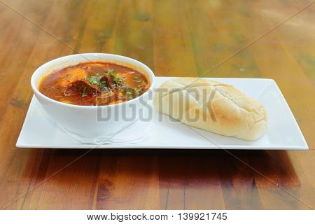 Vietnamese-Style Beef Stew Bo Kho , with bread