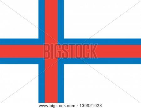 Vector Faroe Islands flag
