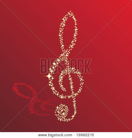 Musical notes clef background for use in design