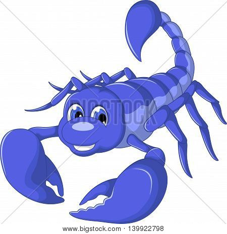 cute scorpion cartoon smiling for you design