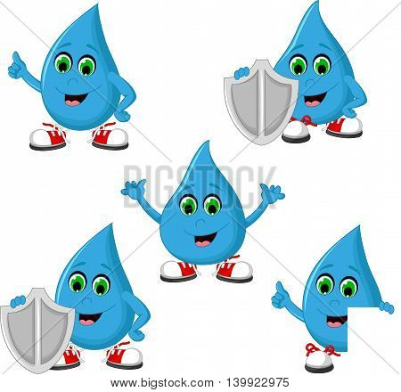 collection of kind water anti bacteria icon