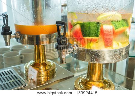 Fresh fruit Flavored infused water