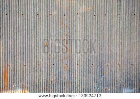 galvanized iron roof, a blank space for text