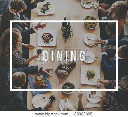 Dining Business Lunch Meal Team Anniversary Concept