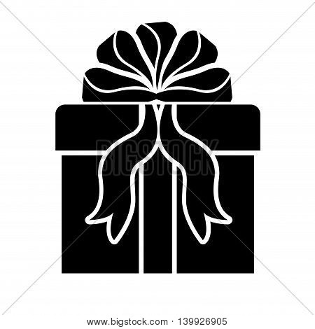 gift box with ribbon isolated icon design, vector illustration  graphic