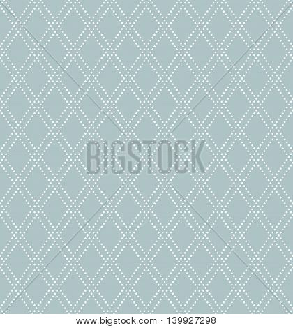 Geometric abstract background. Seamless modern light blue and white pattern