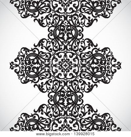 Vector seamless border in Victorian style. Element for design. It can be used for decorating of wedding invitations greeting cards decoration for bags and clothes.