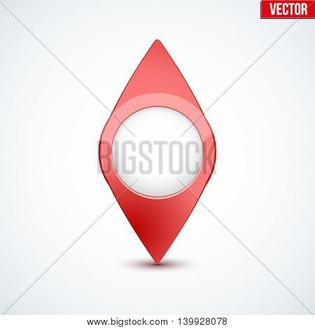 Pointer target for maps. For web or applications. Vector Illustration isolated on white background.