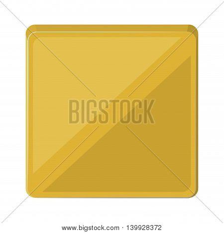 square button isolated icon design, vector illustration  graphic
