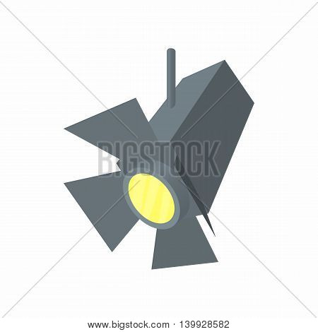 Spotlight icon in cartoon style isolated on white background. Illumination symbol