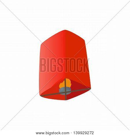 Chinese lantern icon in cartoon style isolated on white background. Illumination symbol