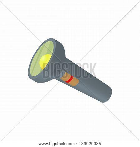 Hand lantern icon in cartoon style isolated on white background. Illumination symbol