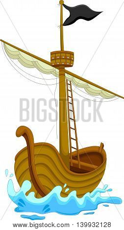 cute pirate ship cartoon for you design