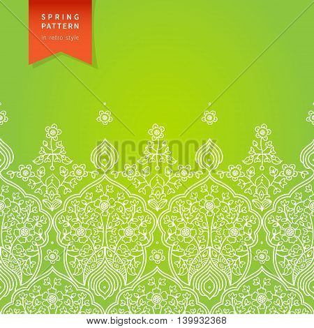 Vector spring floral pattern in east style. Element for design. Ornamental background. It can be used for decorating of wedding invitations greeting cards decoration for bags and clothes.