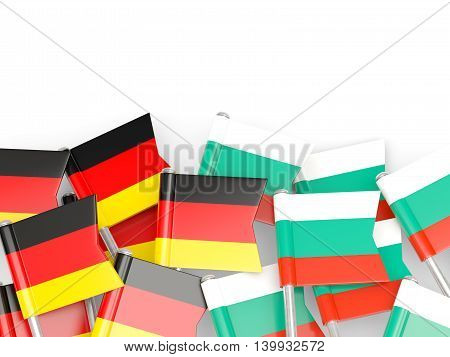 Flags Of Germany And Bulgaria  Isolated On White