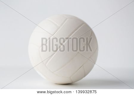 sport, fitness, game, sports equipment and objects concept - close up of volleyball ball