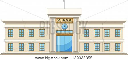 beautiful university cartoon on white background for you design