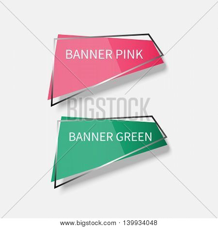 Set of Web banners with frames for website or app or business. Vector illustration