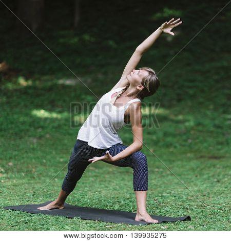 Yoga Sun Salutation, toned image, square image