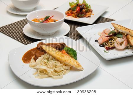 variety of food are ready to eat.