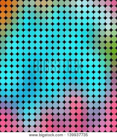 Colorful Circle Or Dots Geometric Low Poly Gradient Graphic Background Vector Eps10