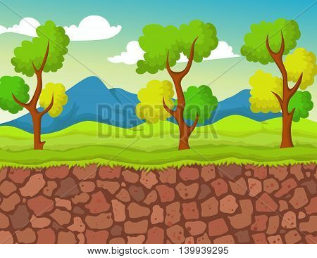 beauty forest with stone view for you design