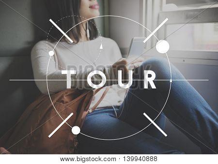 Tour Tourism Relax Sightseeing Tourist Enjoy Concept