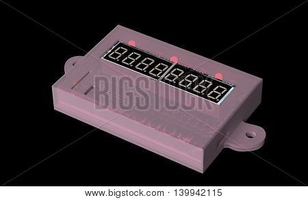 Modelled for 3d printing case for DIY electronic. 3d render