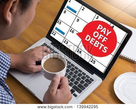Pay Off Debts Loan Money Bankruptcy Bill