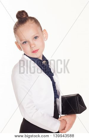 little girl business Lady with a bag