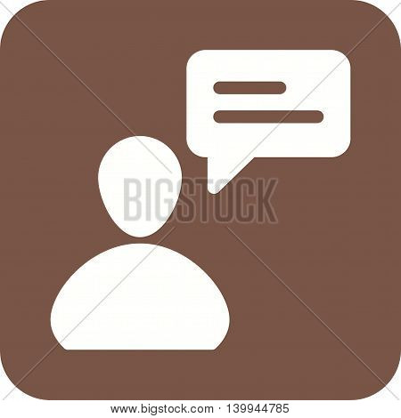 Customer, question, typing icon vector image. Can also be used for customer services. Suitable for web apps, mobile apps and print media.