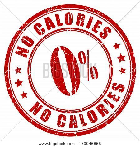 No calories rubber stamp isolated on white background