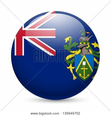 A round badge in the colours of The Pitcairn islands flag.