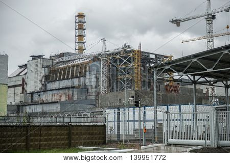 abandoned Chernobyl nuclear power station, 4-th block