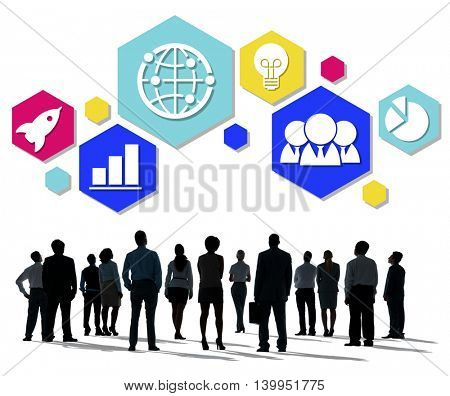 Global Business Strategy Planning Icon Concept