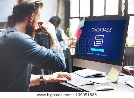 File Database Cloud Network Concept