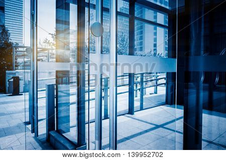 modern office building,blue toned image,china.