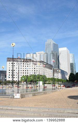 PARIS FRANCE 7 JUNE 2015: La Defense financial district Paris