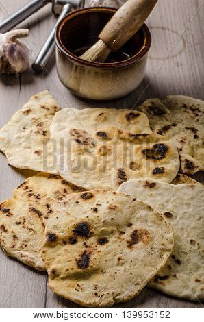 Homemade Indian Naan Bread