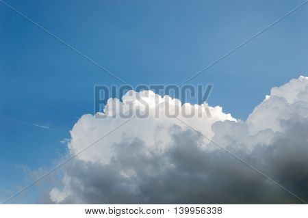 Clear Sky And Cloud On Day Time For Background Usage.