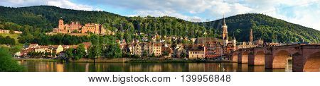 Panorama of Heidelberg Germany showing the