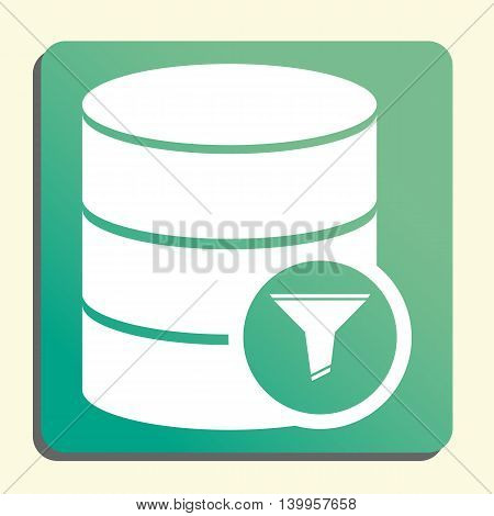 Database Filter Icon In Vector Format. Premium Quality Database Filter Symbol. Web Graphic Database