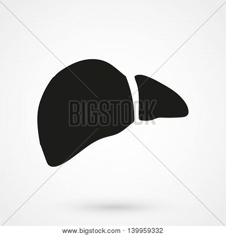Liver Icon On A White Background. Simple Vector Illustration
