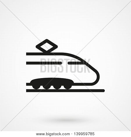 Train Icon On A White Background. Simple Vector Illustration